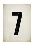 """Numero """"7"""" consumato Stampe di Rebecca Peragine"""