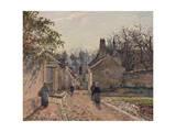 A Village Street, Louveciennes, 1871 Reproduction procédé giclée par Camille Pissarro