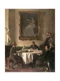Homage to Manet, 1909 Gicléetryck av Sir William Orpen