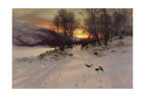 When the West with Evening Glows, 1901 Giclée-tryk af Joseph Farquharson