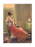 Lady Sewing, C.1830 Giclee Print by William Henry Hunt