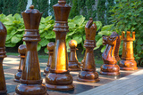 Giant Outdoors Chess Set Photo Poster Poster