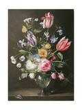 Flowers in a Glass Vase, 1663 Giclée-Druck von Johannes Antonius van der Baren