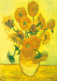 Still Life, Vase With Fifteen Sunflowers Prints by Vincent van Gogh
