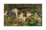 Hylas and the Nymphs, 1896 Giclée-tryk af John William Waterhouse