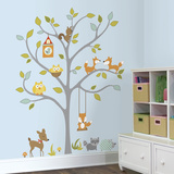 Woodland Fox & Friends Tree Peel and Stick Wall Decals Autocollant mural
