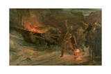 The Funeral of a Viking, 1893 Giclée-tryk af Frank Bernard Dicksee
