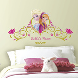 Frozen SpringTime Custom Headboard Peel and Stick Giant Wall Decals Veggoverføringsbilde