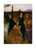 Autumn Leaves, 1856 Giclee Print by John Everett Millais