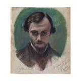 Portrait of Dante Gabriel Rossetti, 1853 Giclee Print by William Holman Hunt