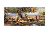 The Sheepshearers, C.1863 Giclee Print by Samuel Palmer