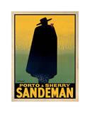 Porto and Sherry Sandeman, 1931 Giclée-tryk af Georges Massiot