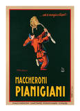 Maccheroni Pianigiani, 1922 Gicléedruk van Achille Luciano Mauzan