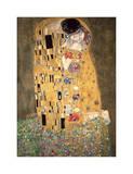 Kyssen, ca 1907 Gicléetryck av Gustav Klimt