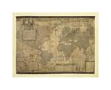 世界地図 ジクレープリント : ゲラルドゥス・メルカトル