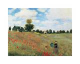Coquelicots Reproduction procédé giclée par Claude Monet