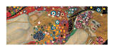 Water Serpents II, ca. 1907 (detaljer) Giclée-tryk af Gustav Klimt