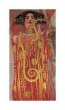 Hygieia (detail from Medicine) Reproduction procédé giclée par Gustav Klimt