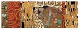 Dekorativ collage, baseret på Opfyldelsen, Stoclet-frisen Giclée-tryk af Gustav Klimt