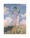 Femme au parasol Reproduction procédé giclée par Claude Monet