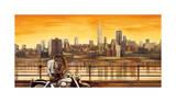 Lovers in New York Giclee Print by Edoardo Rovere