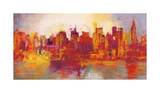 Abstract New York City Giclée-tryk af Brian Carter