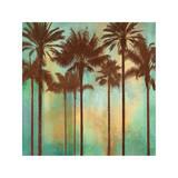 Aqua Palms II Giclée-tryk af John Seba