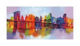 Abstrakt Manhattan Giclée-tryk af Brian Carter