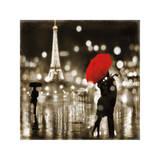 A Paris Kiss Reproduction procédé giclée par Kate Carrigan