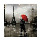 Paris Romance Giclee Print by Kate Carrigan