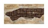 Manhattan Neighborhoods Reproduction procédé giclée par Luke Wilson
