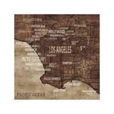 Map of Los Angeles Reproduction procédé giclée par Luke Wilson