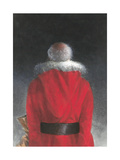 Man in Red Coat (Back View), 2004 Giclee Print by Lincoln Seligman