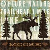 Simple Living Moose Poster by Michael Mullan
