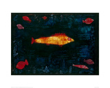 The Golden Fish, 1925 Giclée-tryk af Paul Klee