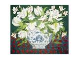 White Double Tulips and Alstroemerias, 2013 Reproduction procédé giclée par Jennifer Abbott