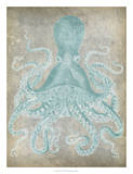 Spa Octopus I Giclée-tryk af Jennifer Goldberger