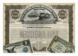 Antique Stock Certificate I Giclee-trykk