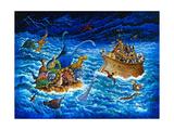 Noah and the Dinosaurs Reproduction procédé giclée par Bill Bell