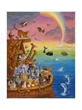 Noé et l'arc-en-ciel Reproduction procédé giclée par Bill Bell