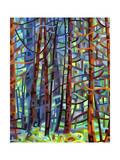 In a Pine Forest Lámina giclée por Mandy Budan