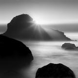 Long sunset at Indian Beach Fotografisk tryk af Moises Levy