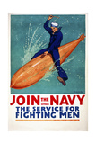 Join the Navy, the Service for Fighting Men Giclee Print
