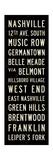 Nashville Transit Sign Giclee Print by Michael Jon Watt