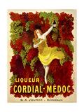 Liquer Cordial-Médoc, G. A. Jourde - Bordeaux Lámina giclée
