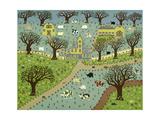 New England Farm Stampa giclée di David Sheskin