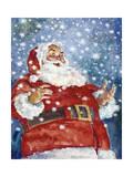 Jolly Santa Giclee Print by Hal Frenck