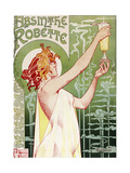 Livemont Absinthe Robette Archival Reproduction procédé giclée