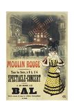 Moulin Rouge Bal Roedel Giclée-tryk