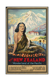 New Zealand Wonderland of the Pacific Giclée-Druck